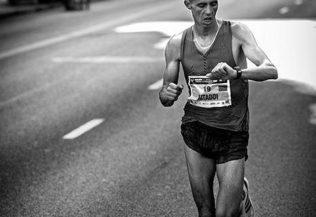 València Marató km 30, controlant el temps